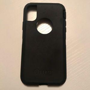 Black Otterbox gel iPhone X case